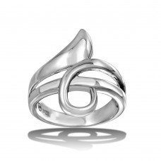 Wholesale Sterling Silver 925 High Polished Wrap Ring - CR00724