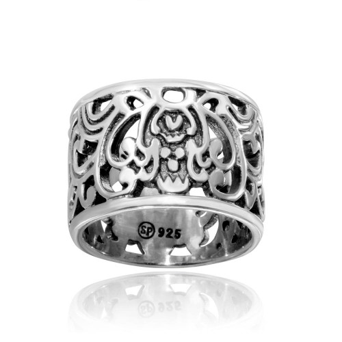 Wholesale Sterling Silver 925 High Polished Old Fashioned Ring - CR00731