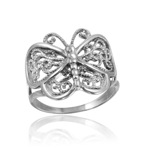Wholesale Sterling Silver 925 High Polished Butterfly Ring - CR00743