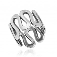 Wholesale Sterling Silver 925 High Polished Wavy Eternity Ring - CR00744