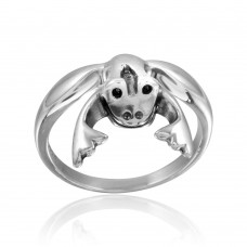 Wholesale Sterling Silver 925 High Polished Frog Ring - CR00753