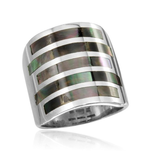 Wholesale Sterling Silver 925 High Polished 5 Bar Ring - CR00756