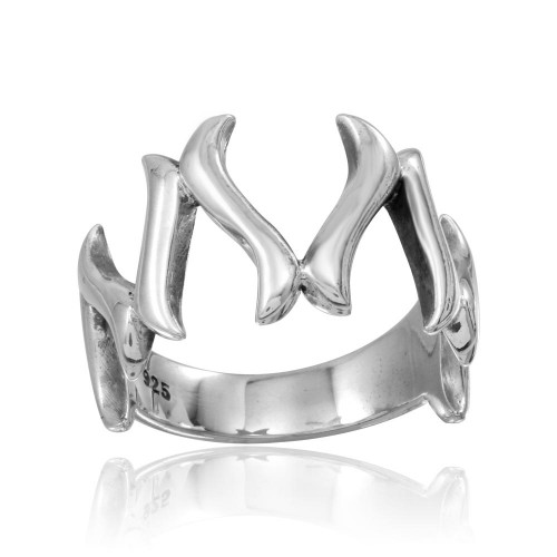 Wholesale Sterling Silver 925 High Polished Wishbone Ring - CR00761