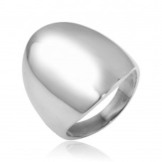 Wholesale Sterling Silver 925 High Polished Blank Oval Ring - CR00796
