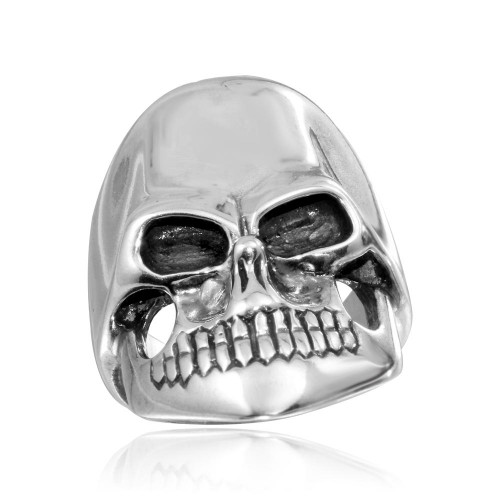Wholesale Sterling Silver 925 High Polished Skull Ring - CR00799