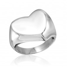 Wholesale Sterling Silver 925 Rhodium Plated Heart Ring - CR00805