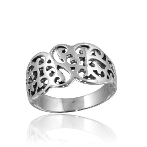 Wholesale Sterling Silver 925 High Polished Fancy Design Ring - CR00812