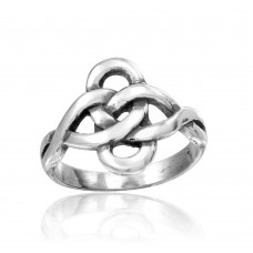 Wholesale Sterling Silver 925 High Polished Linked Loop Ring - CR00814