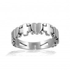 Wholesale Sterling Silver 925 High Polished Cross and Heart Ring - CR00815