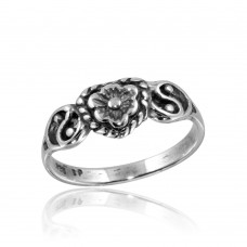 Wholesale Sterling Silver 925 High Polished Mini Flower Ring - CR00816