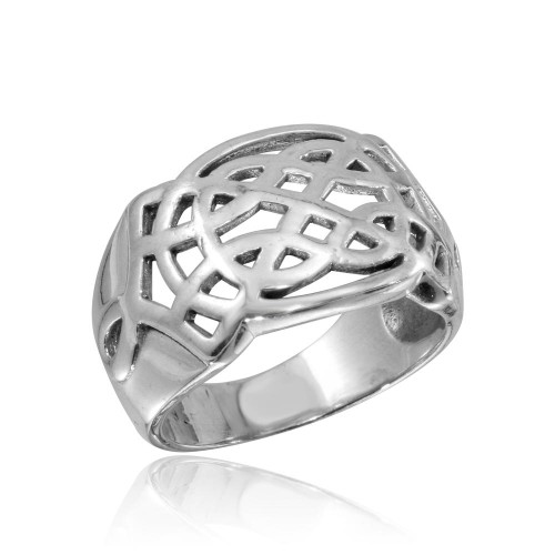 Wholesale Sterling Silver 925 High Polished Woven Dome Ring - CR00817
