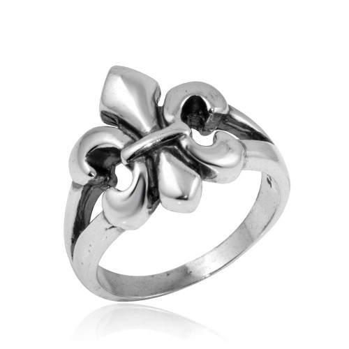 Wholesale Sterling Silver 925 High Polished Filigree Ring - CR00818