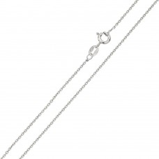 Wholesale Sterling Silver 925 Rhodium Plated Diamond Cut Anchor 035 Chain 1.35mm - CH235 RH
