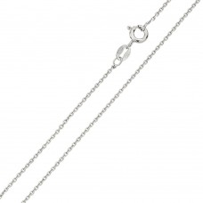 Wholesale Sterling Silver 925 Rhodium Plated Anchor 035 Chain 1.35mm - CH238 RH