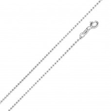 Wholesale Sterling Silver 925 Rhodium Plated Bead 150 Chain 1.5mm - CH112 RH