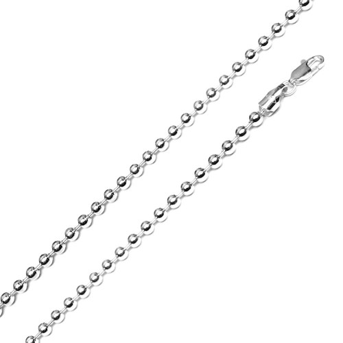Wholesale Sterling Silver 925 High Polished Bead 600 Chain 6mm - CH511