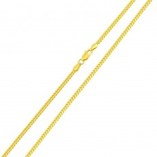 Wholesale Sterling Silver 925 Gold Plated Miami Curb Chain Link 1.8mm - CH338 GP