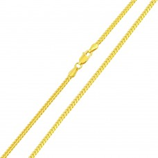 Wholesale Sterling Silver 925 Gold Plated Miami Curb Chain Link 2.6mm - CH339 GP