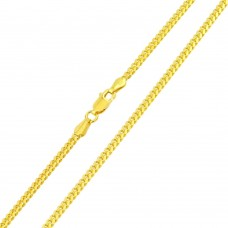 Wholesale Sterling Silver 925 Gold Plated Miami Curb Chain Link 4.6mm - CH342 GP