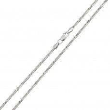 Wholesale Sterling Silver 925 Rhodium Plated Miami Curb Chain Link 1.8mm - CH311 RH