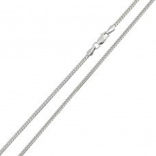 Wholesale Sterling Silver 925 Rhodium Plated Miami Curb 080 Chain Link 2.6mm - CH312 RH