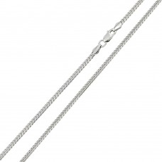 Wholesale Sterling Silver 925 Rhodium Plated Miami Curb 100 Chain Link 3.4mm - CH313 RH