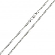 Wholesale Sterling Silver 925 Rhodium Plated Miami Curb 120 Chain Link 4.1mm - CH314 RH