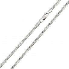 Wholesale Sterling Silver 925 Rhodium Plated Miami Curb 180 Chain Link 6.1mm - CH316 RH