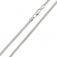 Wholesale Sterling Silver 925 Rhodium Plated Miami Curb 200 Chain Link 7mm - CH317 RH