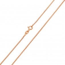 Wholesale Sterling Silver 925 Rose Gold Plated Diamond V Cut Box 024 Chain 0.96mm - CH164 RGP