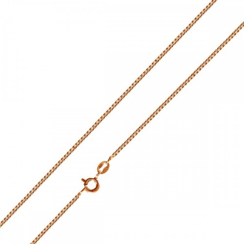 Wholesale Sterling Silver 925 Rose Gold Plated Box 015 Chain 0.8mm - CH157 RGP