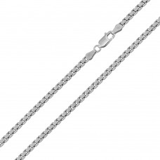 Wholesale Sterling Silver 925 Rhodium Plated Box 060 Chain 2.7mm - CH407 RH