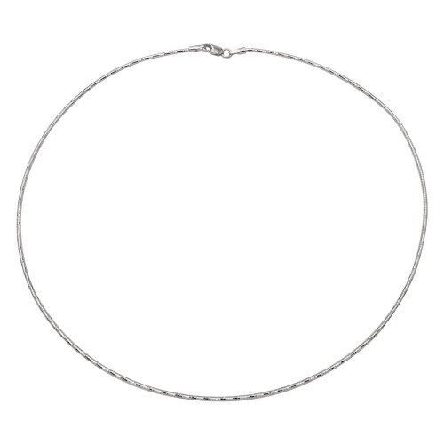Wholesale Sterling Silver 925 Rhodium Plated DC Omega Box Chain 1.4mm - CH900 RH