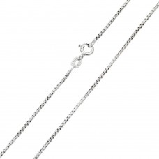 Wholesale Sterling Silver 925 Rhodium Plated Box Round DC Slash 030 Chains 1.5mm - CH212 RH