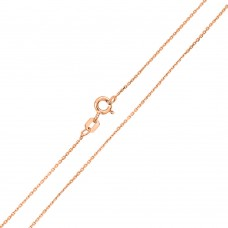 Wholesale Sterling Silver 925 Rose Gold Plated Cable 025 Chain 1.3mm - CH171 RGP