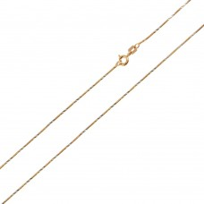 Wholesale Sterling Silver 925 Rose Gold Plated DC Slash Round Snake 020 Chain 0.86mm - CH176 RGP