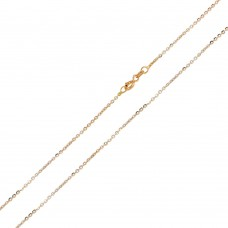 Wholesale Sterling Silver 925 Rose Gold Plated Rolo DC 1.4mm Chain - CH177 RGP