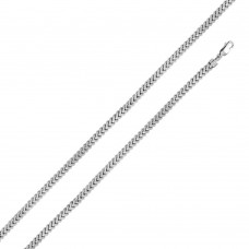Sterling Silver Rhodium Plated Hollow Franco Chain 5.7mm - CHHW102 RH
