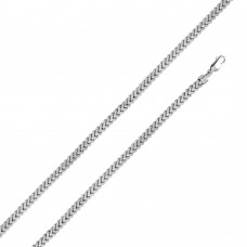 Sterling Silver Rhodium Plated Hollow Franco Chain 6.2mm - CHHW103 RH
