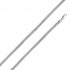 Sterling Silver Rhodium Plated Hollow Franco Chain 7.2mm - CHHW104 RH