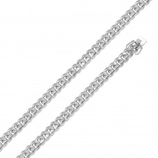 Wholesale Sterling Silver 925 Rhodium Plated Miami Curb Chain 12.5mm - CH432 RH
