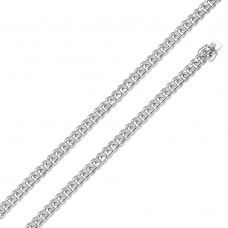 Wholesale Sterling Silver 925 Rhodium Plated Miami Curb Chain 9mm - CH434 RH