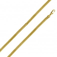 Sterling Silver Gold Plated Franco Chain 7.2MM - CHHW109 GP