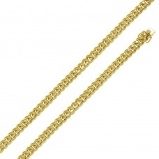 Wholesale Sterling Silver 925 Gold Plated Miami Curb Chain 9MM - CH443 GP