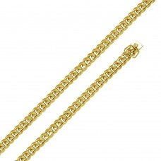 Wholesale Sterling Silver 925 Gold Plated Miami Curb Chain 10.9MM - CH444 GP