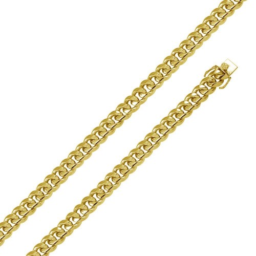 Wholesale Sterling Silver 925 Gold Plated Miami Curb 12.5MM - CH445 GP