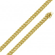 Wholesale Sterling Silver 925 Gold Plated Miami Curb Chain 14.5MM - CH446 GP