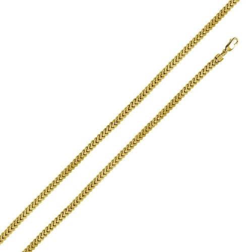 Wholesale Sterling Silver 925 Gold Plated Franco Chain 4.7MM - CHHW105 GP