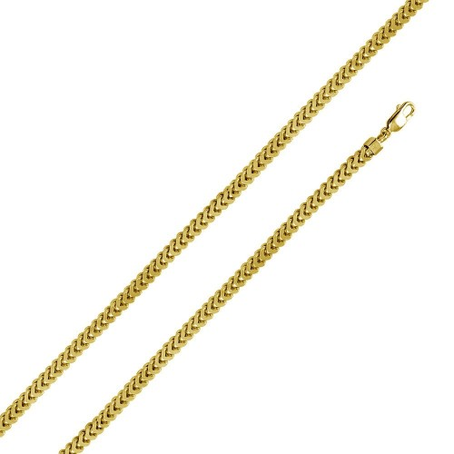 Wholesale Sterling Silver 925 Gold Plated Flat Franco Chain 5.2MM - CHHW107A GP