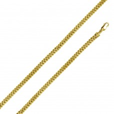 Sterling Silver Gold Plated Franco Chain 5.6MM - CHHW108 GP
